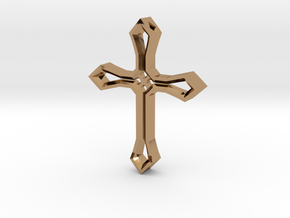 Cross Pendant in Polished Brass