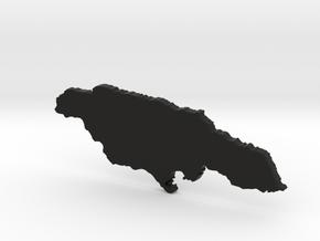 Jamaica Map for Henry Morgan in Black Natural Versatile Plastic