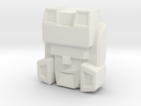 IDW Hardhead Face, Upscaled in White Natural Versatile Plastic