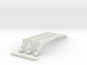 Logan's claws  in White Natural Versatile Plastic