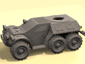 28mm 6x6 Taman recon car (without turret) in White Strong & Flexible