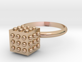 Bumps Box in 14k Rose Gold Plated Brass: 5 / 49