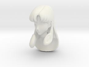 1/12 Misa Hayase Head Sculpt in White Natural Versatile Plastic