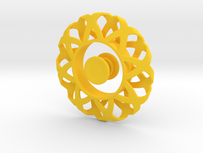 Fidget Spinner Simplest Wire 1 With Cover in Yellow Processed Versatile Plastic