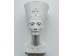 Nefertiti Bust in Smoothest Fine Detail Plastic