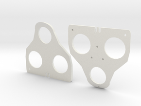 2° Wedges for SPD-SL and Keo in White Natural Versatile Plastic