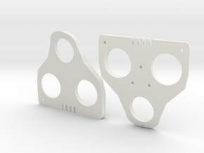 4° Wedges for SPD-SL and Keo in White Natural Versatile Plastic