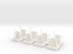 Card Guard Pawns (1) in White Processed Versatile Plastic