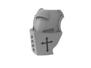 Templar Knight - Mask in Smooth Fine Detail Plastic