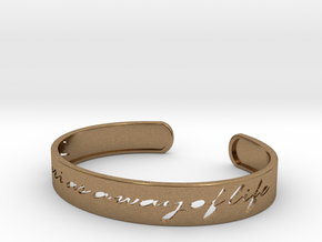 Safari as a Way of Life Bangle in Natural Brass