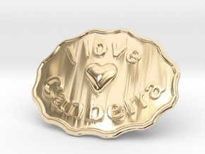 I Love Canberra Belt Buckle in 14K Yellow Gold