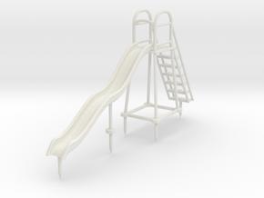 Children's Wave Slide, S Scale (1:64) in White Natural Versatile Plastic