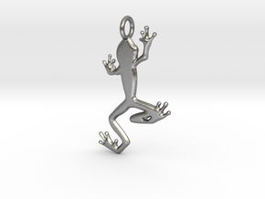 Frog Pendant in Natural Silver