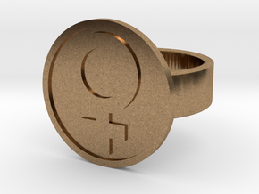Female Ring in Natural Brass: 8 / 56.75