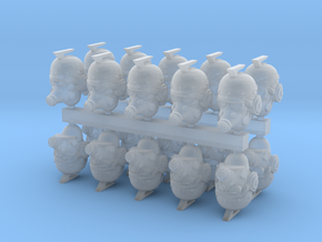 28mm retro fiction heads (20) in Smoothest Fine Detail Plastic