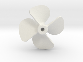Propeller 18x20 4-blades (Right Handed) in White Natural Versatile Plastic