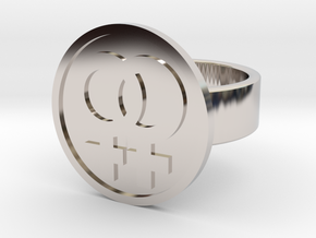 Double Female Ring in Rhodium Plated Brass: 8 / 56.75