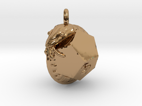 Dodecahedron Snake Pendant in Polished Brass