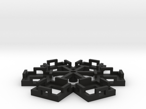 Flight Stand - 6 Dice in Black Natural Versatile Plastic