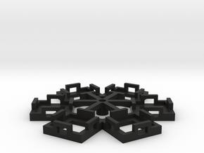 Flight Stand - 6 Dice in Black Natural Versatile Plastic