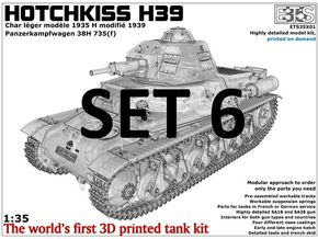 ETS35X01 Hotchkiss H39 - Set 6 in Smooth Fine Detail Plastic
