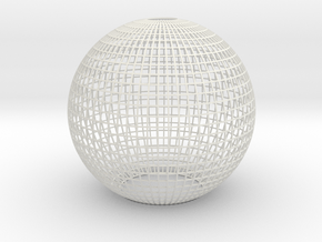 Grid Lampshade in Smooth Fine Detail Plastic