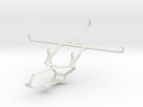Controller mount for Steam & Sharp Aquos Pad SH-06 in White Natural Versatile Plastic