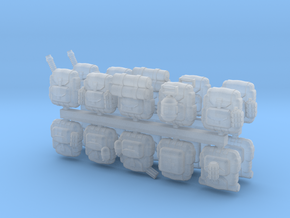 28mm soldier backpacks (20) in Smoothest Fine Detail Plastic