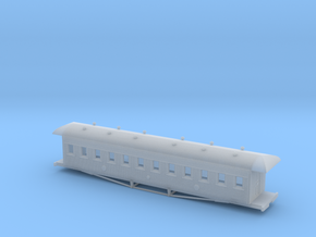 1:87 47ft Passenger Car Of 1902 in Smooth Fine Detail Plastic
