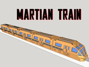 6mm Martian Train (5pcs) in Smooth Fine Detail Plastic