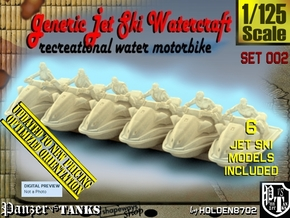 1/125 Generic Jet Ski Set002 in Smooth Fine Detail Plastic