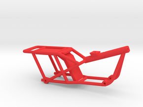 1:10 TRAIL BIKE FRAME in Red Processed Versatile Plastic