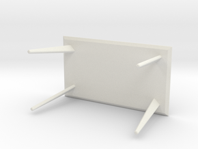 Miniature Lisabo Table - IKEA in White Natural Versatile Plastic: 1:24