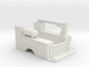 MOW Truck Bed With Fixed Crane 1-50 Scale in White Natural Versatile Plastic
