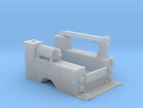 MOW Truck Bed With Fixed Crane 1-50 Scale in Smooth Fine Detail Plastic