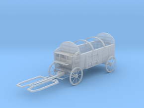 O Scale Hay Wagon  in Smooth Fine Detail Plastic