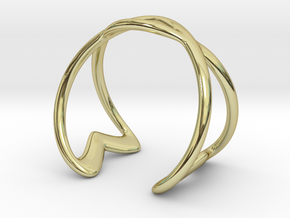 Cuff Bracelet Weave Line B-003 in 18k Gold Plated