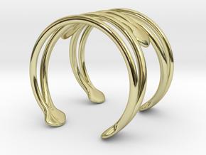 Cuff Bracelet Weave Line B-004 in 18k Gold Plated Brass