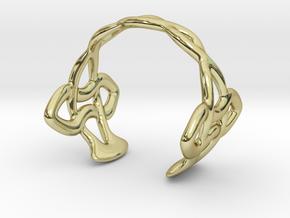 Cuff Bracelet Weave Line B-007 in 18k Gold Plated Brass