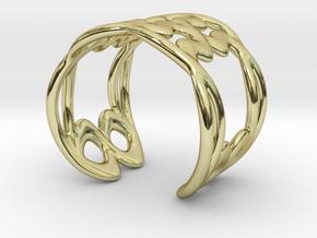 Cuff Bracelet Weave Line B-009 in 18k Gold Plated