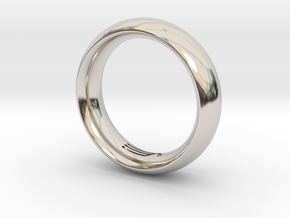 Modern+Convex in Rhodium Plated Brass: 12 / 66.5