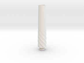Long Drip Tip 2 in White Natural Versatile Plastic