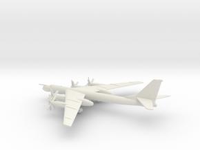 Tupolev Tu-95MS Bear-H in White Natural Versatile Plastic: 1:400