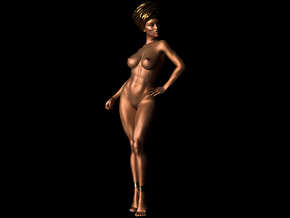 Woman Body ornaments 021 in White Strong & Flexible: 1:10