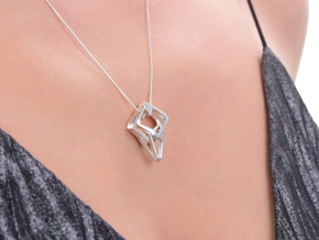 Prototype, Pendant. Sharp Chic in Polished Silver