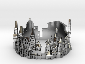 Moscow Skyline - Cityscape Ring in Polished Silver: 10 / 61.5