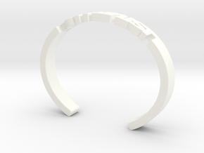 Feminist Cuff Bracelet in White Strong & Flexible Polished: Medium