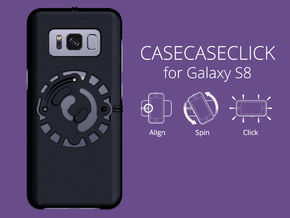 for Galaxy S8 : smooth : CASECASE CLICK in Black Strong & Flexible