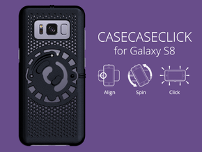 for Galaxy S8 : cel : CASECASE CLICK in Black Strong & Flexible