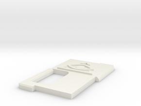 All Seeing Door V1 (Round Edge) in White Natural Versatile Plastic